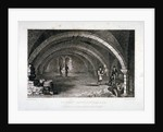Interior view of the crypt, St Saviour's Church, Southwark, London by J Shury
