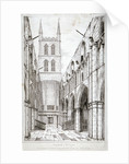 View of the nave, St Saviour's Church, Southwark, London by W Taylor