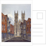 View of the west end of Westminster Abbey, looking from Tothill Street, London by