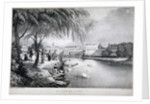 View of St James's Park and Buckingham Palace, Westminster, London by Thomas Mann Baynes