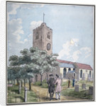 South-west view of All Saints Church, Fulham, London by