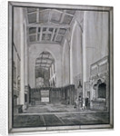 Interior of the Church of St Katherine by the Tower, Stepney, London by