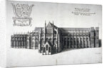 North view of Westminster Abbey, London by Wenceslaus Hollar
