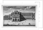 View of the west end of Westminster Abbey before the addition of towers, London by