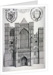 Westminster Abbey, London by Wenceslaus Hollar