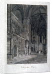 Interior view of Westminster Abbey, London by