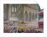 Coronation of George IV, Westminster Abbey, London by Anonymous