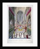 Coronation of William IV and Queen Adelaide's in Westminster Abbey, London by W Read