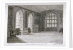 Interior view of the Jerusalem Chamber in Westminster Abbey, London by Frederick Nash