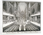 The coronation of George IV in Westminster Abbey, London by Anonymous