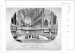 The coronation of Queen Victoria in Westminster Abbey, London by