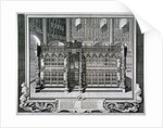 Monument to Henry VII and Queen Elizabeth in the king's chapel, Westminster Abbey, London by George Vertue