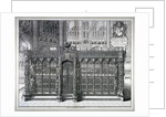 Monument to Henry VII and Queen Elizabeth in the king's chapel, Westminster Abbey, London by