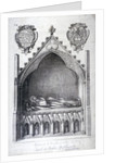 The tomb of Avaline, Countess of Lancaster, Westminster Abbey, London by