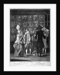 Miss Macaroni and her gallant at a print shop by John Raphael Smith