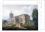 South-east view of the Church of St Dunstan, Stepney, London by Henry Sass