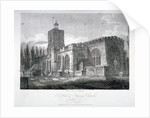 South-east view of the Church of St Dunstan, Stepney, London by James Sargant Storer