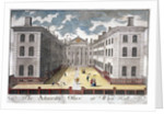 View of the Admiralty, Whitehall, with figures in the courtyard, Westminster, London by Anonymous