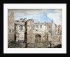 Ruins of a fire-damaged building in Bear Yard, Westminster, London by Daniel Thorn