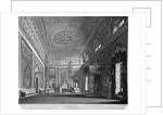 View of the saloon in Buckingham House, Westminster, London by William James Bennett