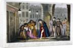 Scene in Covent Garden, Westminster, London by Isaac Robert Cruikshank