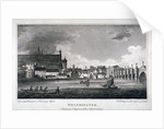 View of the River Thames, Westminster Bridge and the Palace of Westminster, London by AW Warren