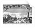 View of Westminster Hall and New Palace Yard, London by John Seller