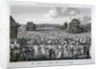 View of the crowded entrance to Hyde Park on a Sunday, London by John Pass