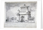 Design for a triumphal arch at Hyde Park in commemoration of the victory at Waterloo in 1815, 1826 by Charles Joseph Hullmandel