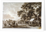 Army camp in Hyde Park, London by Paul Sandby