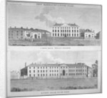 Two views of the new barracks in Hyde Park, London by Anonymous