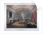 The Great Subscription Room, interior of the Brooks's Club, St James's Street, London by Augustus Charles Pugin