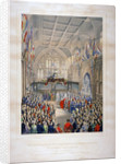 Visit of Napoleon III and the Empress Eugenie of France, Guildhall, City of London by T Turner