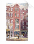 View of buildings on Ludgate Hill showing figures on the street, City of London by