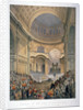 Interior of St Paul's Cathedral during the funeral of the Duke of Wellington, London, 1852 (1853) by