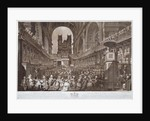 Service of thanksgiving in St Paul's Cathedral, City of London, 1789 (1790) by Robert Pollard
