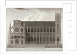 Elevation of Westminster Abbey's north front, London by Anonymous