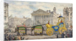 Edwin Hughes passing the Royal Exchange, City of London by Anonymous