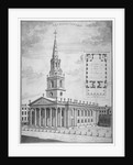 Church of St Martin-in-the-Fields, Westminster, London by Anonymous