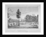 Army encampment in St James's Park, Westminster, London by James Fittler
