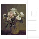 White Roses in a Glass Vase by Henri Fantin-Latour