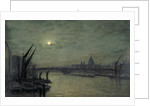 The Thames by moonlight with Southwark Bridge by John Atkinson Grimshaw