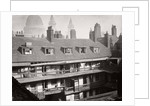 View of the galleries at the Oxford Arms Inn, Warwick Lane, from the roof, City of London by Society for Photographing the Relics of Old London