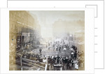 Road widening works in Shoe Lane, City of London by Henry Dixon