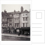 View of houses and shop fronts in Borough High Street, Southwark, London by Henry Dixon