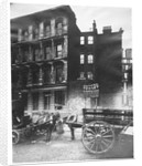 View of land to let in Arthur Street East with two horse-drawn carts in front, City of London by Henry Dixon