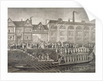 The Lord Mayor departing for Westminster, St Katherine's Way, London, 1703 (c1850(?)) by