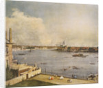 The Thames and the City of London from Richmond House, Whitehall, Westminster by Giovanni Antonio Canaletto