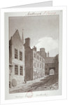 View looking towards the gateway of Montague House, Southwark, London by
