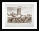 View of telegraphic tower in West Square, Southwark, London by John Chessell Buckler